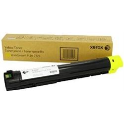 Toner Original Xerox WC 7120 - Amarelo - 6R01458