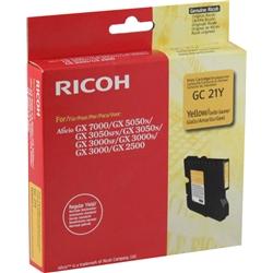 Gel Ricoh GX 3000/3050n/5050n(Type GC-21Y) - Amarelo - RIOGX3000A