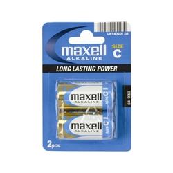 Pilhas Maxell Alcalina C - 1,5V - Blister de 2 - LR14-B2