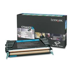 Toner Laser Lexmark C734/X734 - Cião - 6 K - C734A1CG