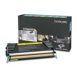 Toner Laser Lexmark C734/X734 - Amarelo - 6 K - C734A1YG