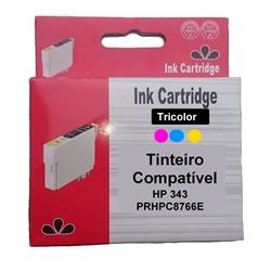 Tinteiro Genérico Cores p/ HP - 343 - PRHPC8766E