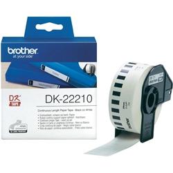 Fita de papel contínuo Brother - Branca - DK22210