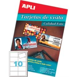 Cartões Visita Apli Inkjet Glossy A4 - 250 gr. - 10 folhas - 10611