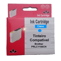 Tinteiro Compatível Cião Brother c/ LC1100C/LC1100HYC/LC980C - PRLC1100CH
