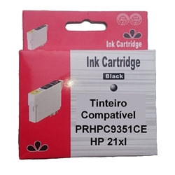 Tinteiro Genérico Preto HP p/ C9351 - 21XL - PRHPC9351CE