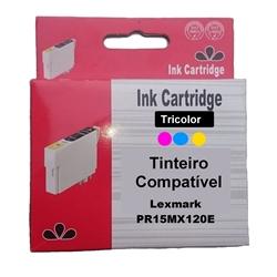 Tinteiro Genérico Cores Lexmark 15MX0120 - 20 - PR15MX120E
