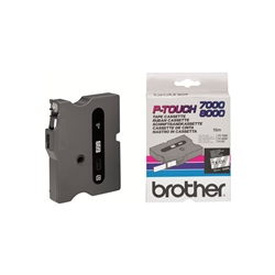 Fita Brother P-Touch Transparente/Preto 12 mm x 15 m - TX131