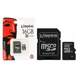 Cartão Memória Kingston Micro SDHC 16Gb - Com adaptador - SDC4/16B
