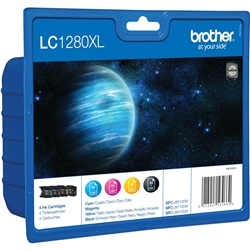 Pack de 4 Tinteiros Brother MFC-J6510/6710/6910DW - LC1280XLVALBP