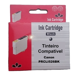 Tinteiro Compatível Preto p/ Canon CLI526BK - PRCLI526BK