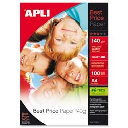 Papel Photo Glossy APLI A4 140gr 100 folhas - PL11804