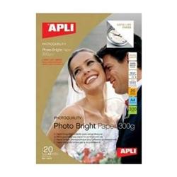 Papel Photo Bright Pro APLI 210 mm x 297 mm 240g 20 folhas - PL04454