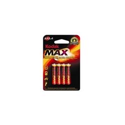 Pilhas Kodak Alcalina AAA - 1,5V - Blister de 4 - KODAKLR03
