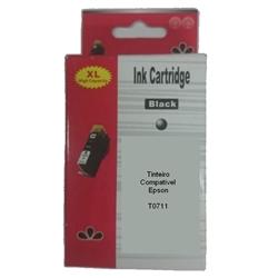 Tinteiro Compatível Preto p/ Epson T0711/T0891 - PRT071140