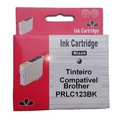 Tinteiro Comp. Preto p/ Brother LC123BK/LC121BK - PRLC123BK